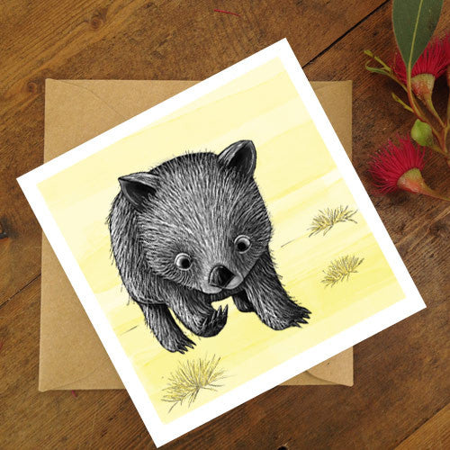 Renee Treml Little Wombat Card
