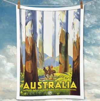 Vintage Australian Bush Tea Towel