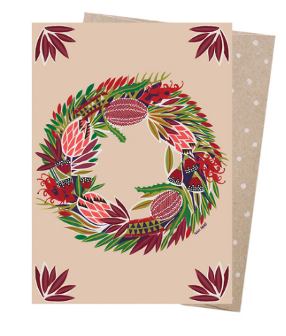 Earth Greetings Mulla Mulla Native Wreath Card