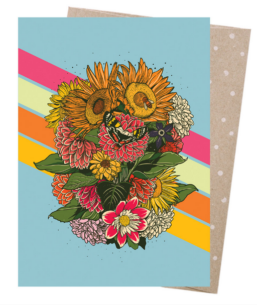 Earth Greetings Moonshine Madness Rainbow Bouquet Card