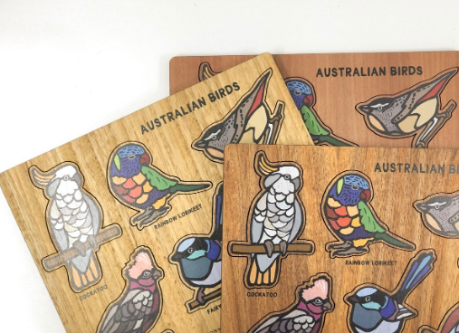 Buttonworks Timber Australian Birds Puzzle