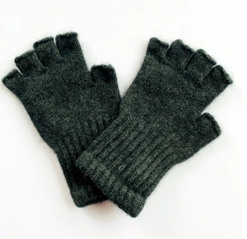Possum Merino Wool Fingerless Gloves