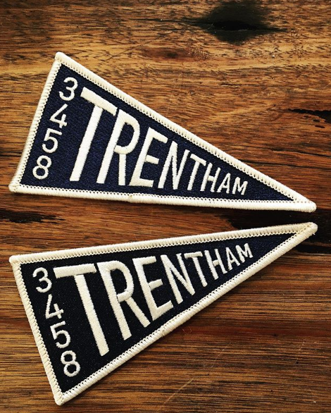 Trentham 3458 Pennant Embroidered Iron On Patch