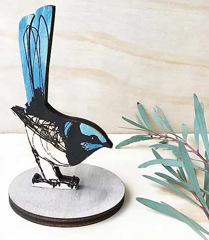 Bridget Farmer Standing Bird Ornament