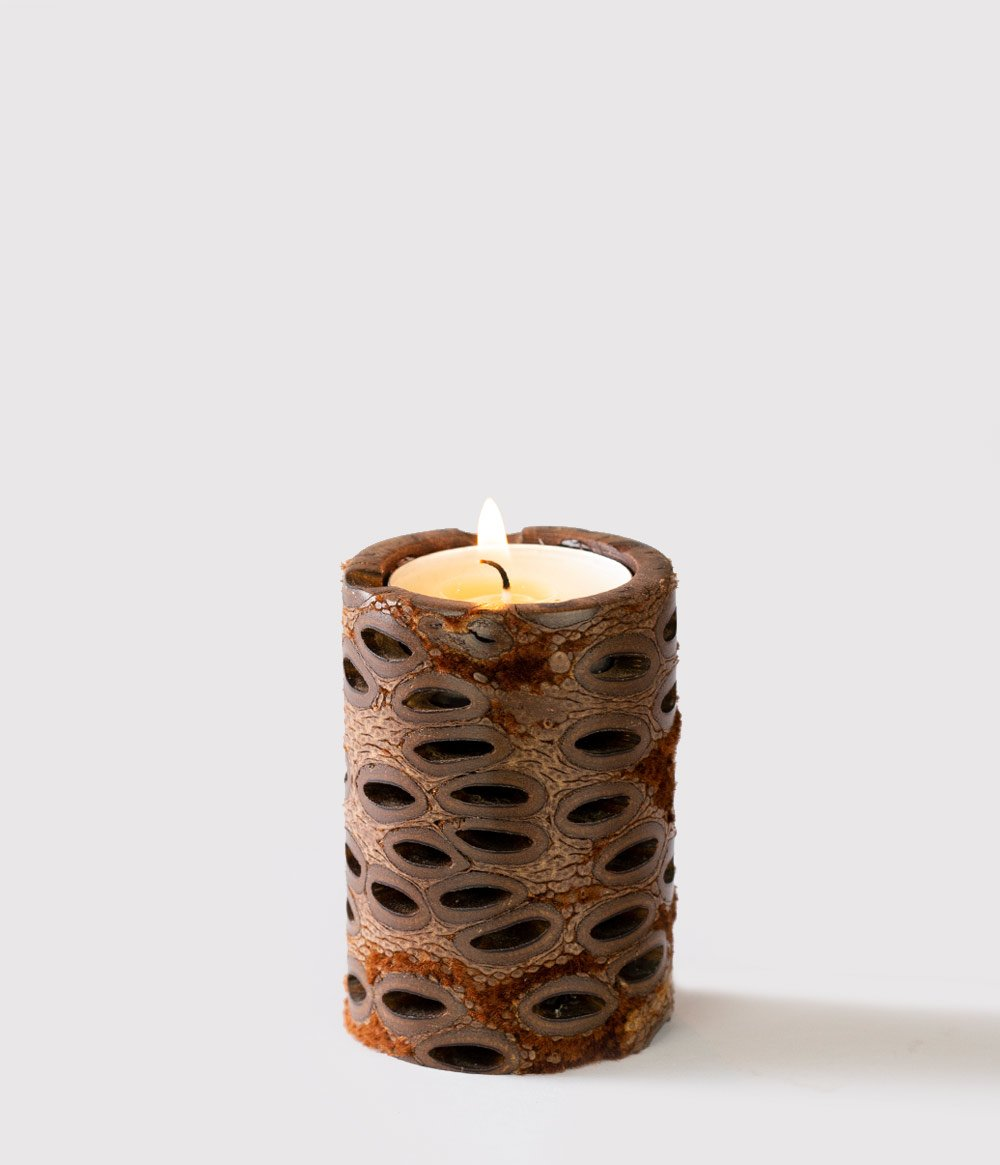 Banksia Pod Tealight Candle Holder