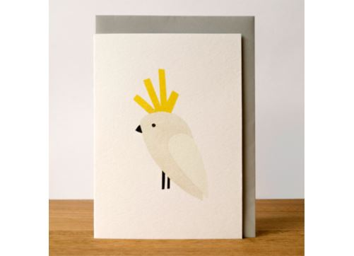 Sunday Paper Cockatoo Card