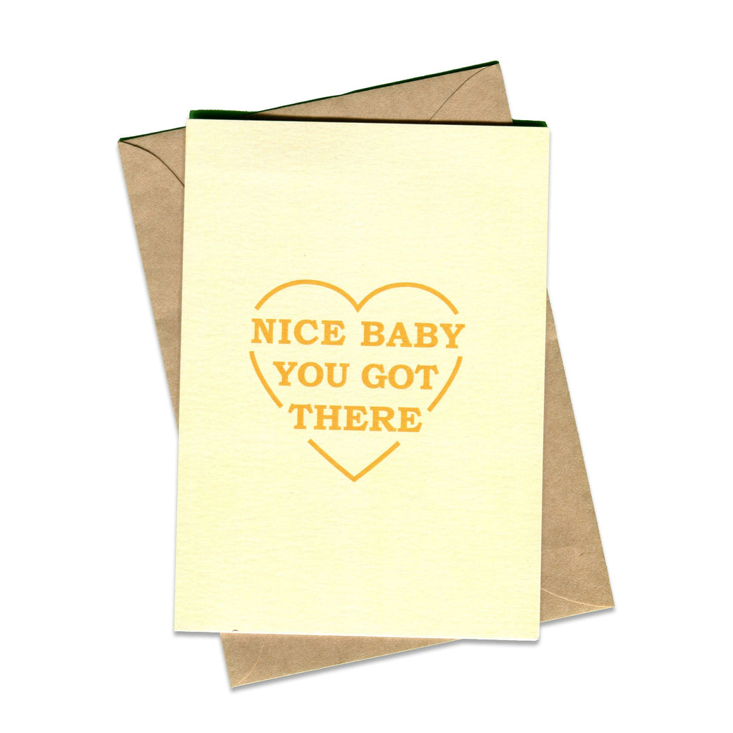 Things By Bean Nice Baby Greeting Card