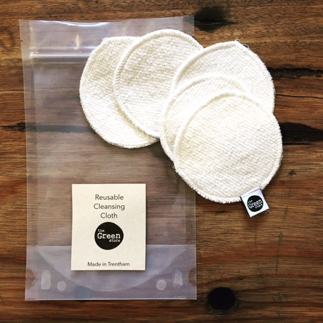 Reusable Hemp Organic Cotton Face Cleansing Cloths