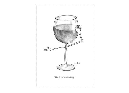 The New Yorker The Wine Talking Card