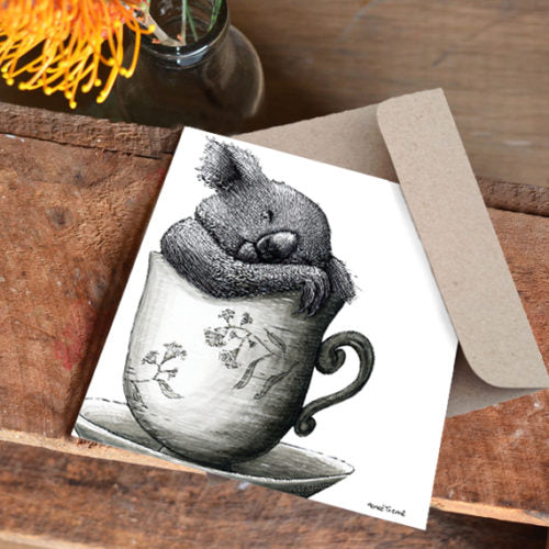 Renee Treml Tea Cosy Koala 2 Card