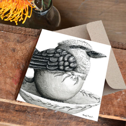 Renee Treml Tea Cozy Kookaburra Card