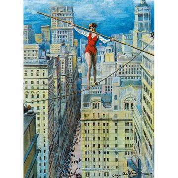 Woman On A Tightrope Card