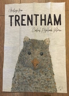 Limited Edition Trentham Natural Linen Tea Towel