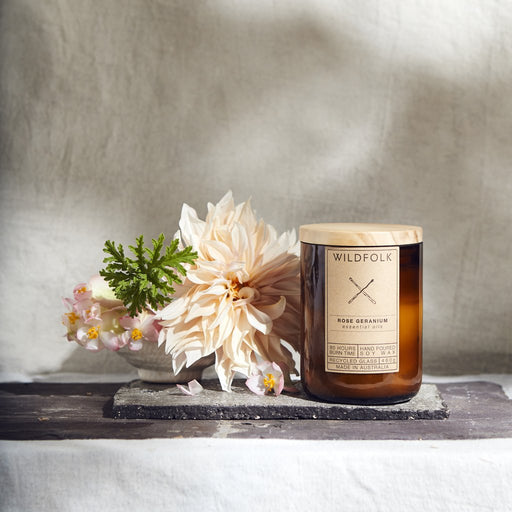 Wildfolk Candle Rose Geranium