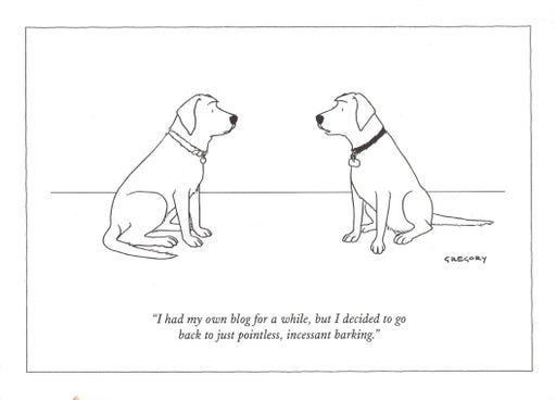The New Yorker Blog Dog Card
