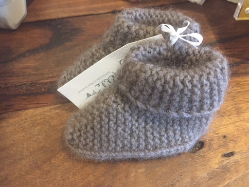 Possum Merino Baby Booties