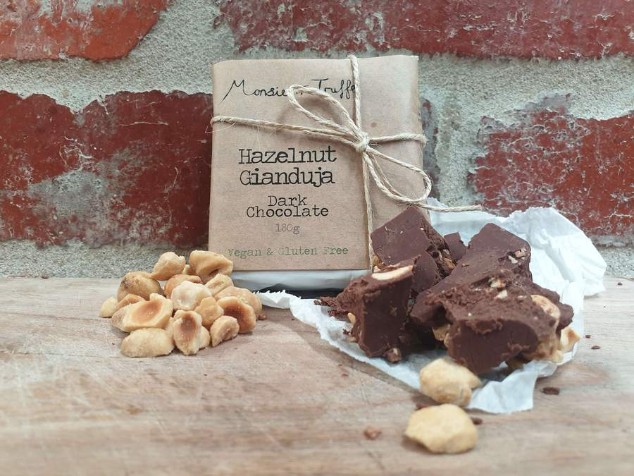 Monsieur Truffe Hazelnut Gianduja Dark Chocolate