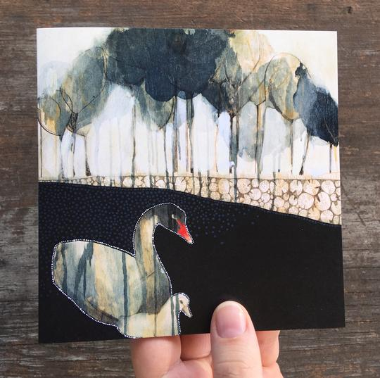 Dana Kinter Artist Card - Early Morning Swan