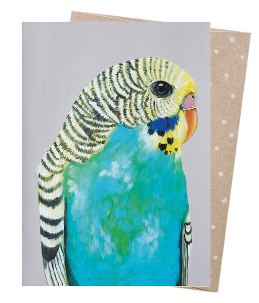 Earth Greetings Vixen Designs Bessie Budgie Card