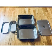 Green Essentials Stainless Steel Sustain-A-Stacker Lunch Box