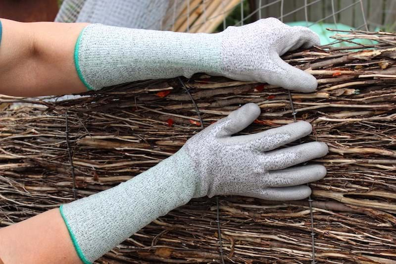 Glass Fibre Long Gardening Gloves