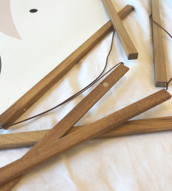 Magnetised Timber Hangers for Prints, Posters, Original Artwork and Tea-towels