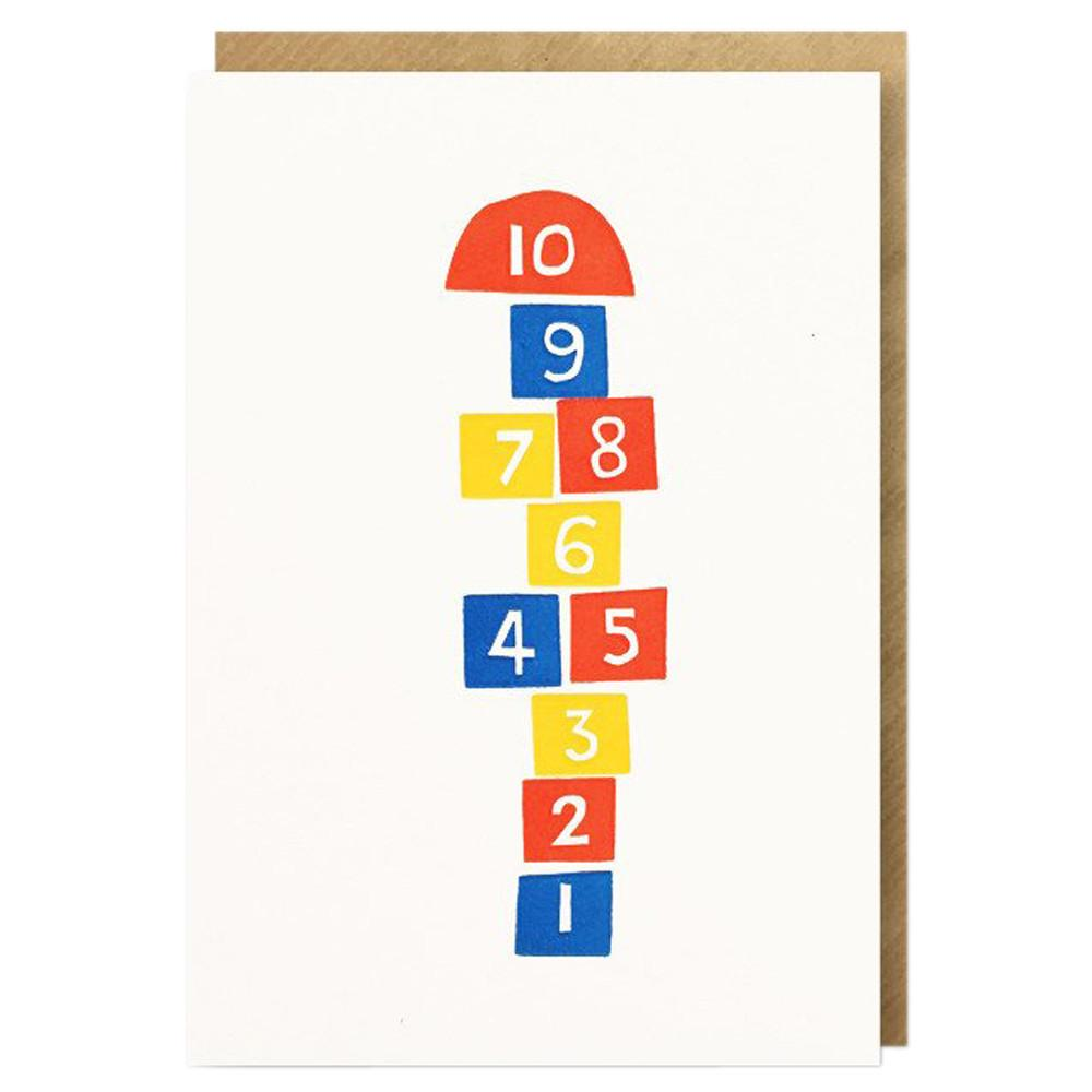 1973 Hopscotch Letterpress Card