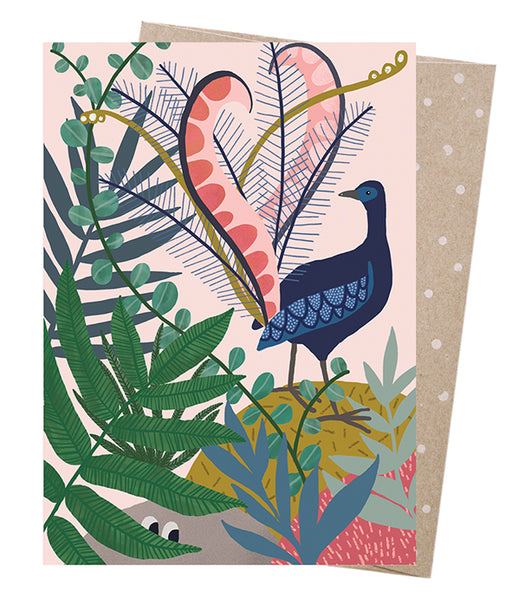 Earth Greetings Meeri Anneli Lyrebirds Serenade Card
