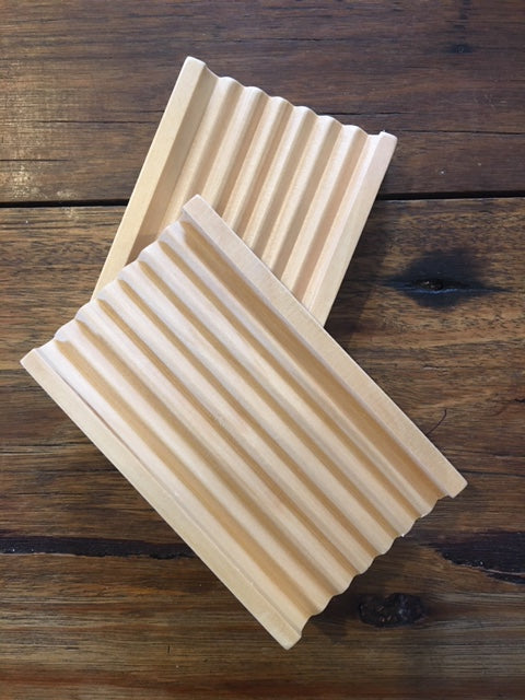 Grooved Bamboo Soap Dish