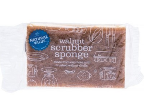 Natural Value Walnut Scrubber Sponge