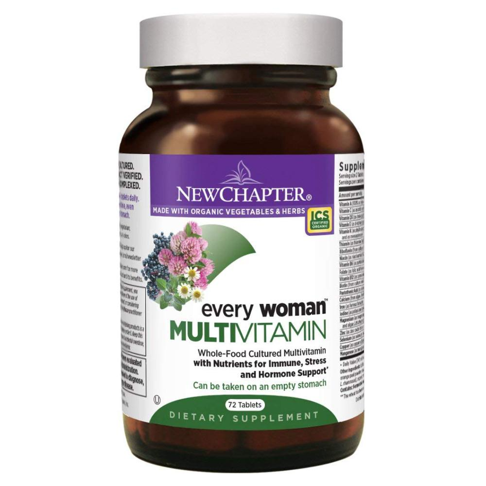 New Chapter Every Woman Multivitamin Fermented with Probiotics + Iron + Vitamin D3 + B Vitamins + Organic Non-GMO Ingredients - 72 Count