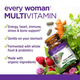 New Chapter Every Woman Multivitamin Fermented with Probiotics + Iron + Vitamin D3 + B Vitamins + Organic Non-GMO Ingredients - 120 Count