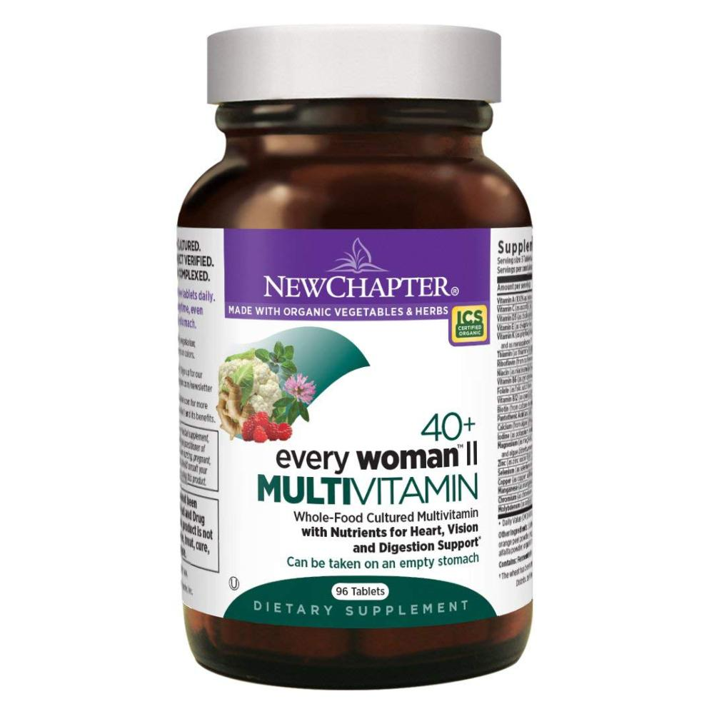 New Chapter Every Woman II 40+, Women's Multivitamin Fermented with Probiotics + B Vitamins + Vitamin D3 + Organic Non-GMO Ingredients - 96 Tablets