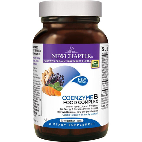 New Chapter Vitamin B Complex - Coenzyme B Food Complex with Vitamin B12 + B6 - Whole-Food - 90 Vegetarian Tablets