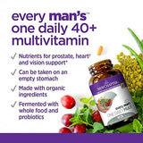New Chapter Every Man's One Daily 40+, Men's Multivitamin Fermented with Probiotics + Saw Palmetto + B Vitamins + Vitamin D3 + Organic Non-GMO Ingredients - 72 Vegetarian Tablets