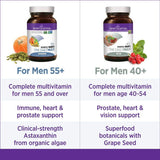 New Chapter Every Man's One Daily 55+ Multi with Fermented Probiotics + Whole Foods + Astaxanthin + Organic Non-GMO Ingredients - 72 Vegetarian Tablets