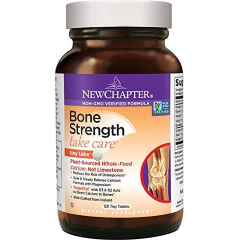 New Chapter Bone Strength Take Care with Vitamin D3 + K2 + Magnesium- 120 Tiny Tablets