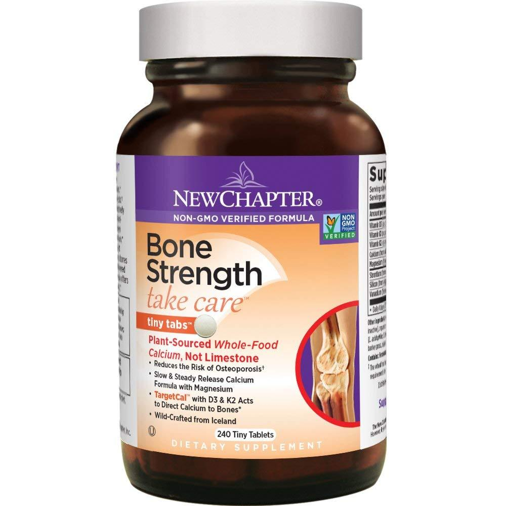 New Chapter Bone Strength Take Care with Vitamin D3 + K2 + Magnesium - 240 Tiny Tablets