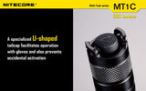 Nitecore MT1C CREE XP-G2 R5 LED Flashlight 345 Lumens