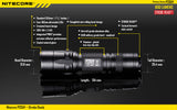 NiteCore P20UV Strobe Ready 800 Lumen LED Flashlight with 4-Ultraviolet Light LED
