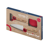 Opinel Le Petit Kids Complete Chef Educational Cooking 3 Piece Set Includes a Knife, Peeler, and Finger Guard