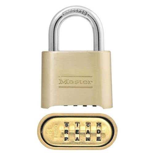 Master Lock Padlock 175DWD - Set Your Own Letter / Word Combination - 2 inches Solid Body