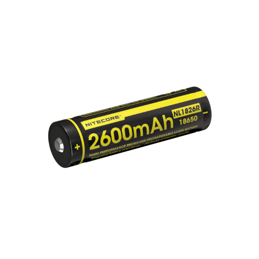 Nitecore NL1826R 18650 Micro-USB Rechargeable Li-Ion Battery 2600mAh
