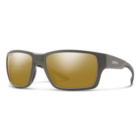 Smith Optics Outback Matte Gravy Frame with ChromaPop Polarized Bronze Mirror Lens