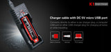 Klarus K1 Smart charger for Li-ion/Ni-MH/Ni-Cd rechargeable batteries