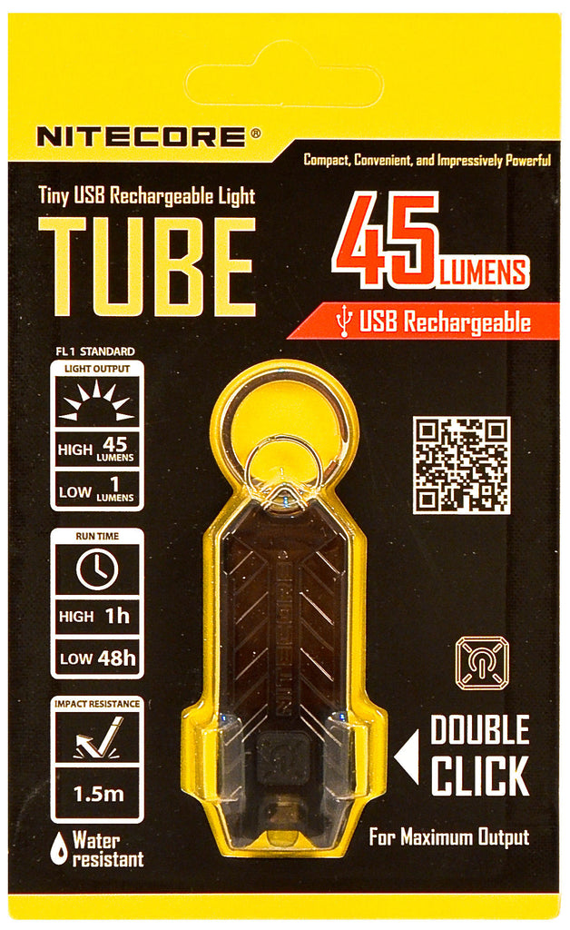 Nitecore TUBE Tiny USB Rechargeable Light 45 Lumens