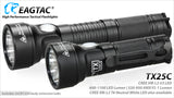 EagleTac TX25C Cool White LED Flashlight