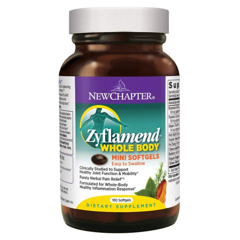 New Chapter Zyflamend Whole Body Supplement for Herbal Pain Relief Inflammation Response  - 180 Softgels