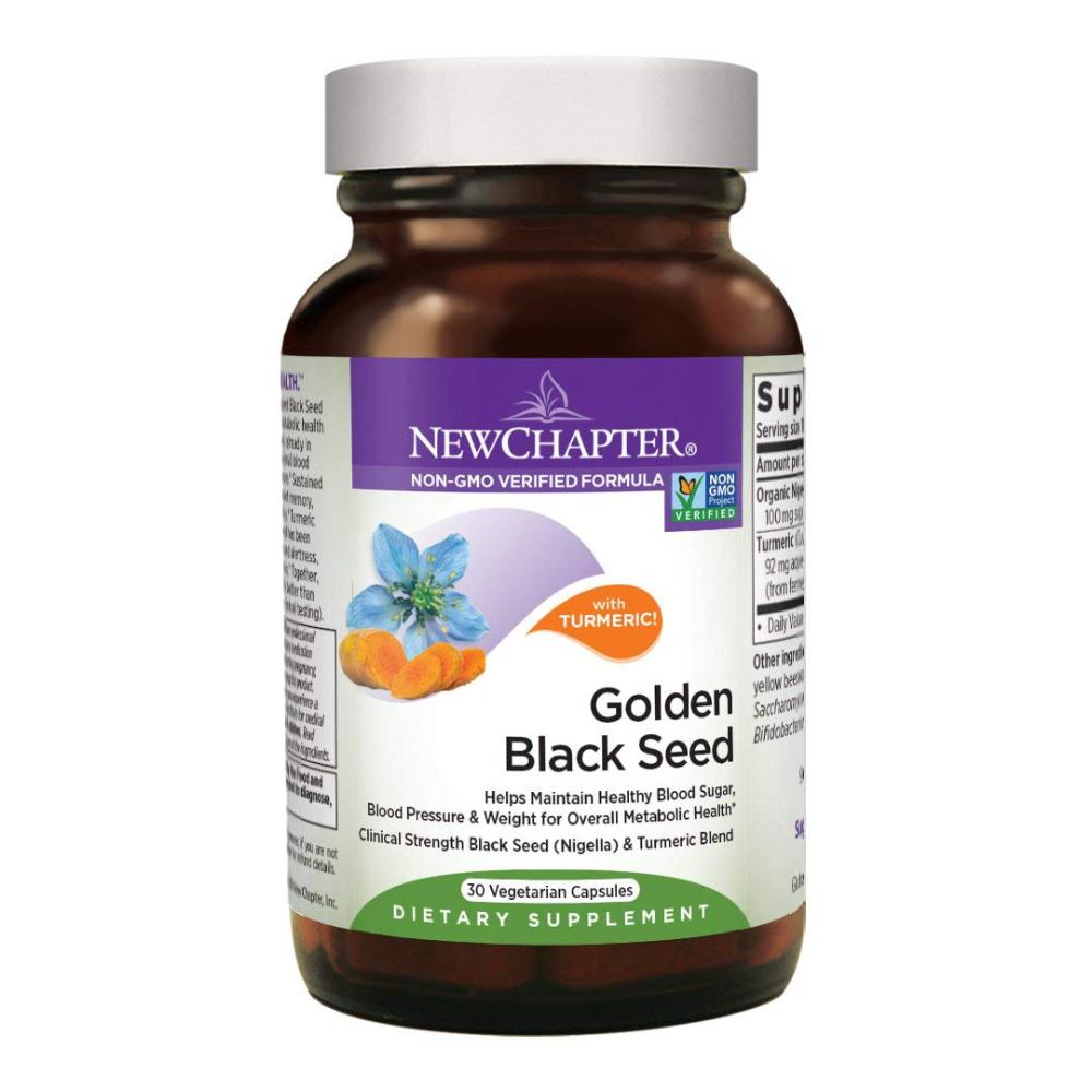 New Chapter Black Seed Oil - Golden Black Seed, Helps Maintain Overall Metabolic Health  - 30 Vegetarian Capsules