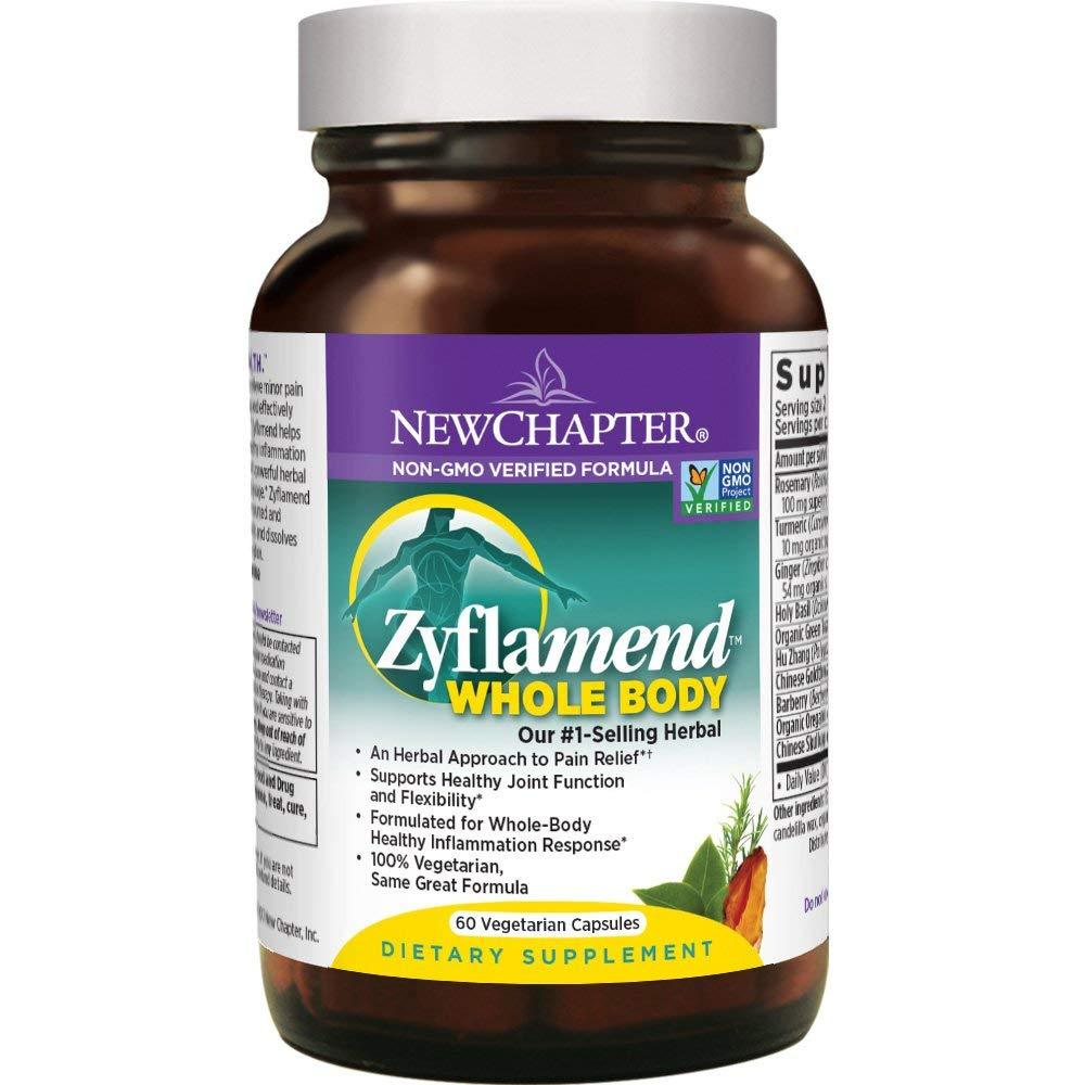 New Chapter Zyflament Whole Body Herbal Pain Relief - 60 Vegetarian Capsules
